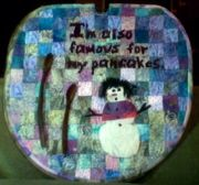 I was challenged to decorate a maple syrup lid.