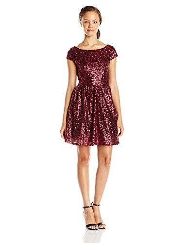 Speechless Junior's Sequin Off The Shoulder Party Dress