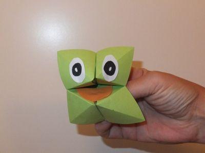 frosch falten origami papier falten. Black Bedroom Furniture Sets. Home Design Ideas