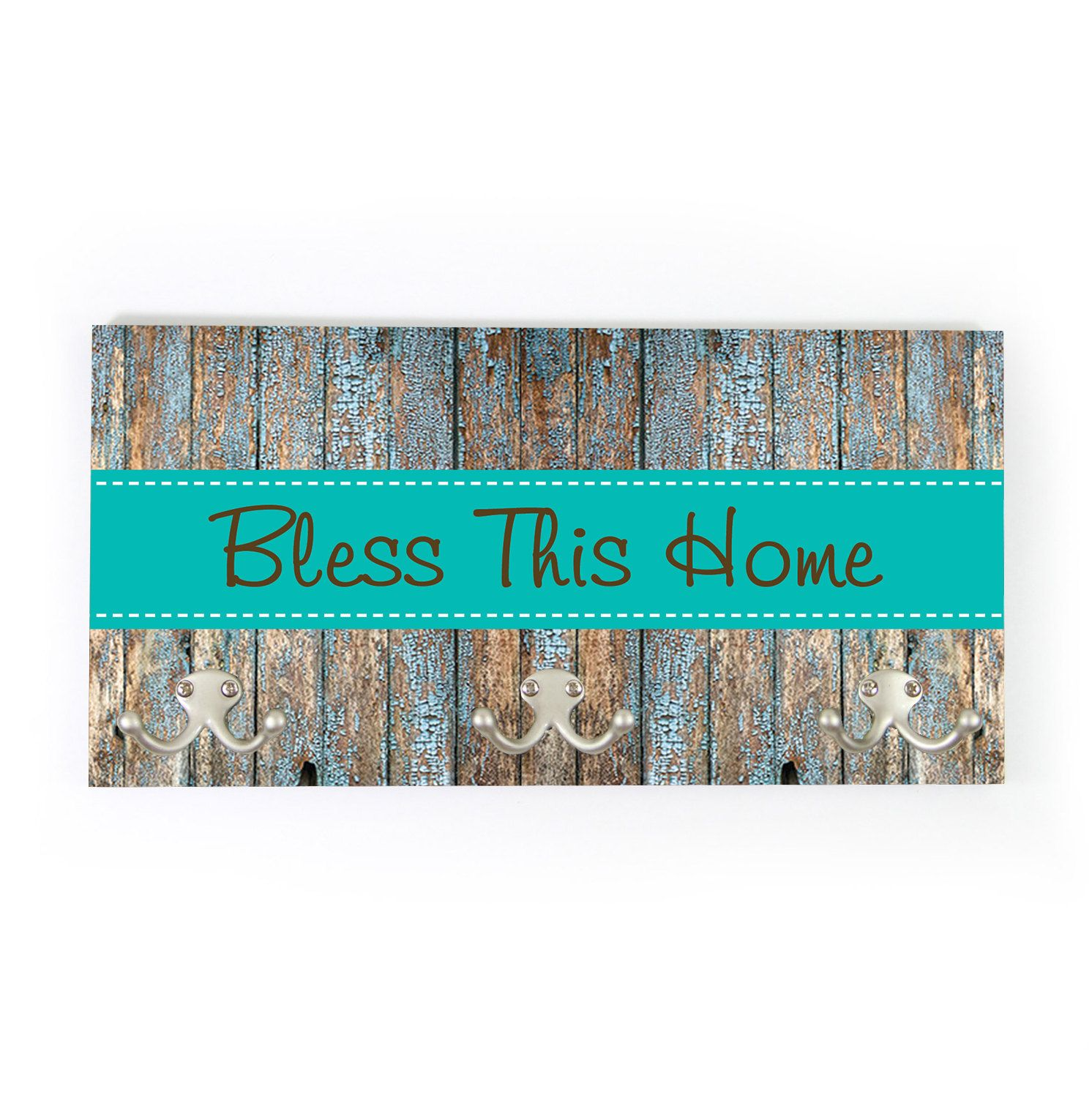 Bless This Home Personalized Coat Rack Wall Coat Rack Wedding Gift Coat Hanger Wall Mount Rustic Personalized Housewarming Gift New Home By C House Warming Gifts