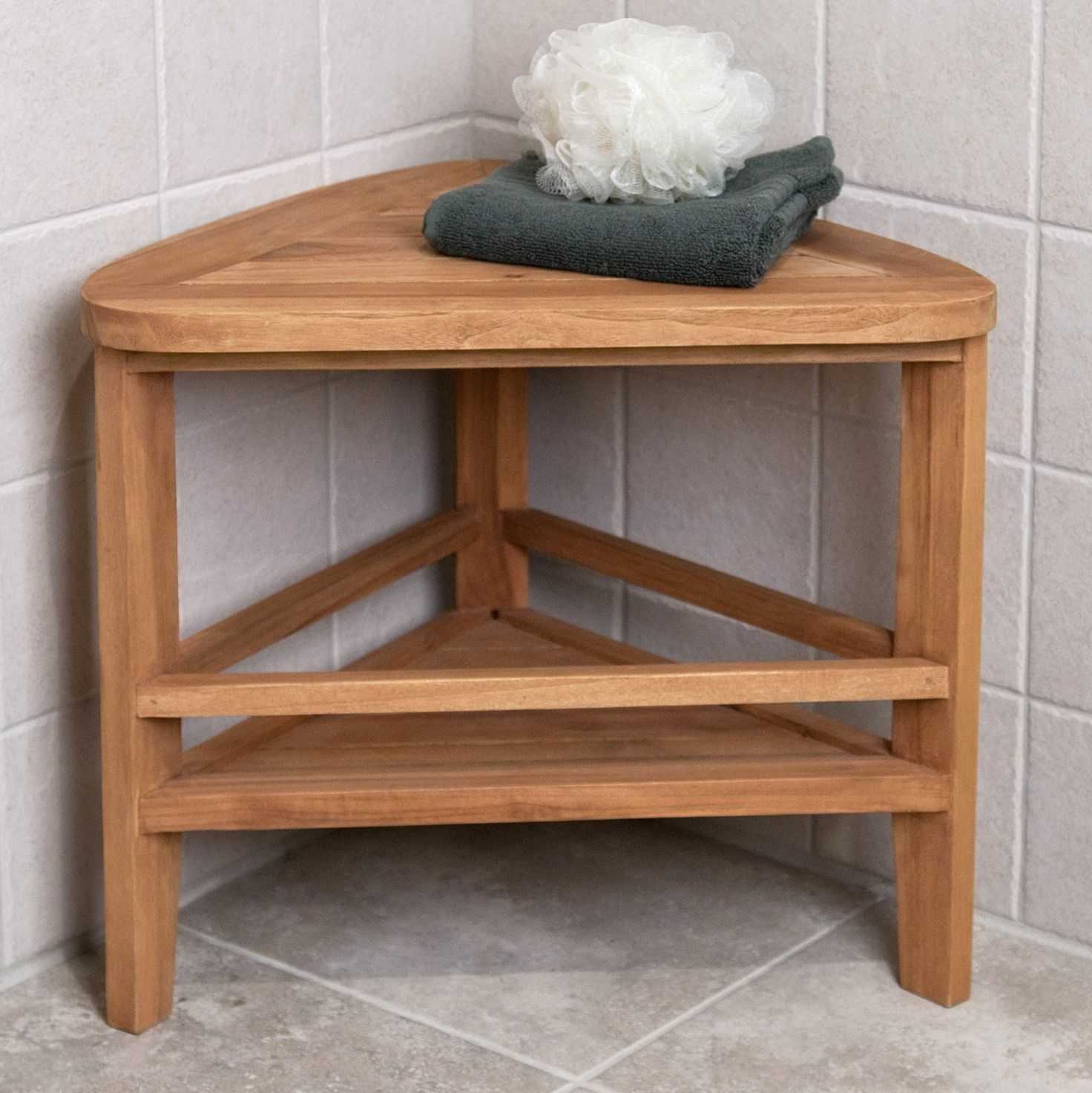 Teak Wood Shower Bench Target With Images Shower Stool Teak
