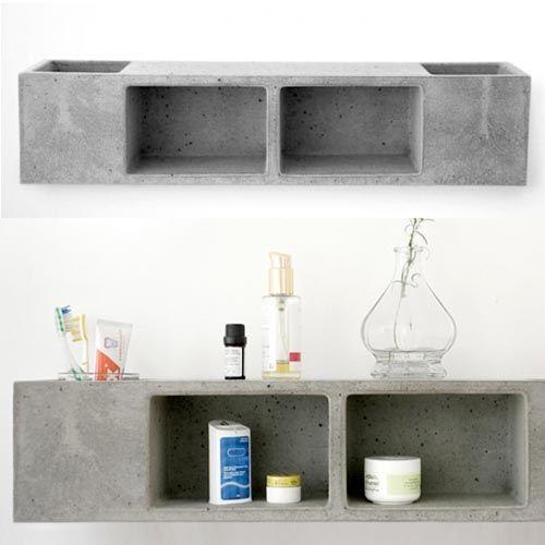 Concrete Bathroom Shelf By Sascha Czerny