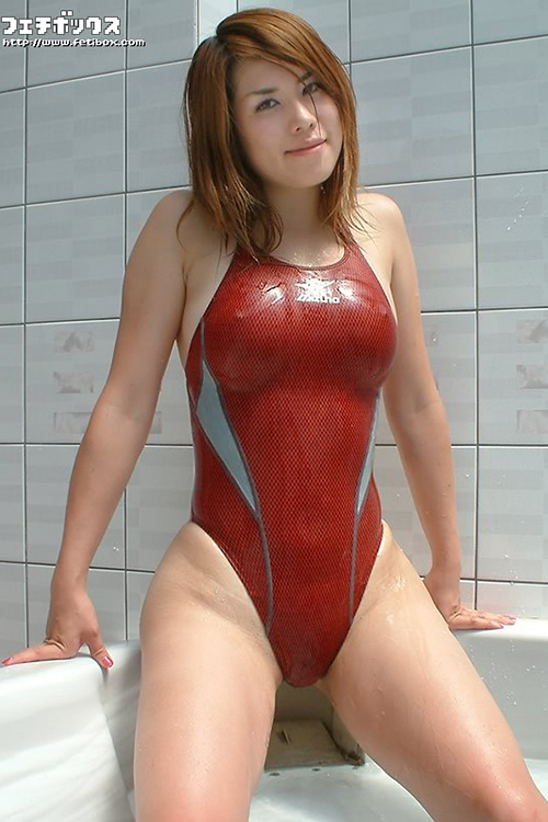Hot girl tight swimsuit