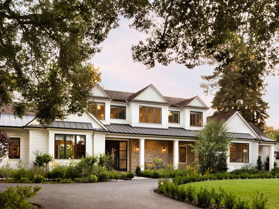 With mixes of siding and stacked stone exterior and