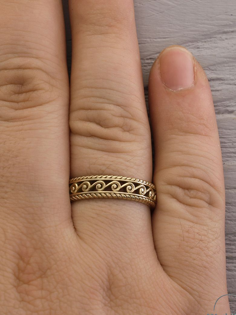 Ladies 3 0mm Filigree Vintage Style Wedding Band In 14k Gold Peoples Jewellers Filigree Wedding Band Wedding Ring Bands Filigree Wedding Ring