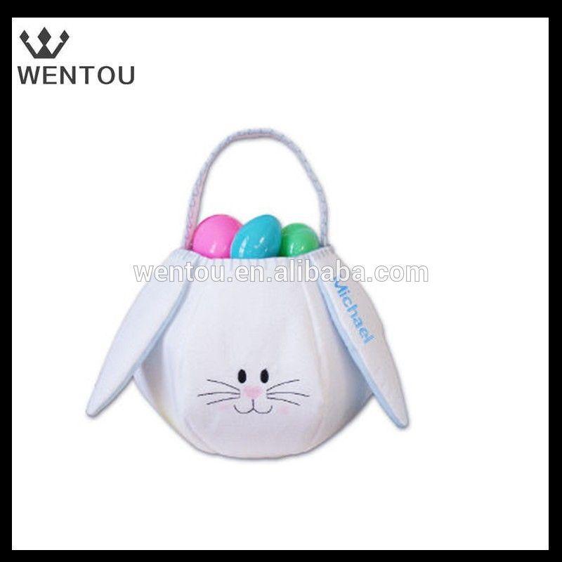 Wholesale Monogrammed Plush Easter Bunny Bag Easter Bunny
