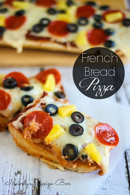 French bread pizza on mandys recipe box pasta and pizza french bread pizza on mandys recipe box forumfinder Image collections