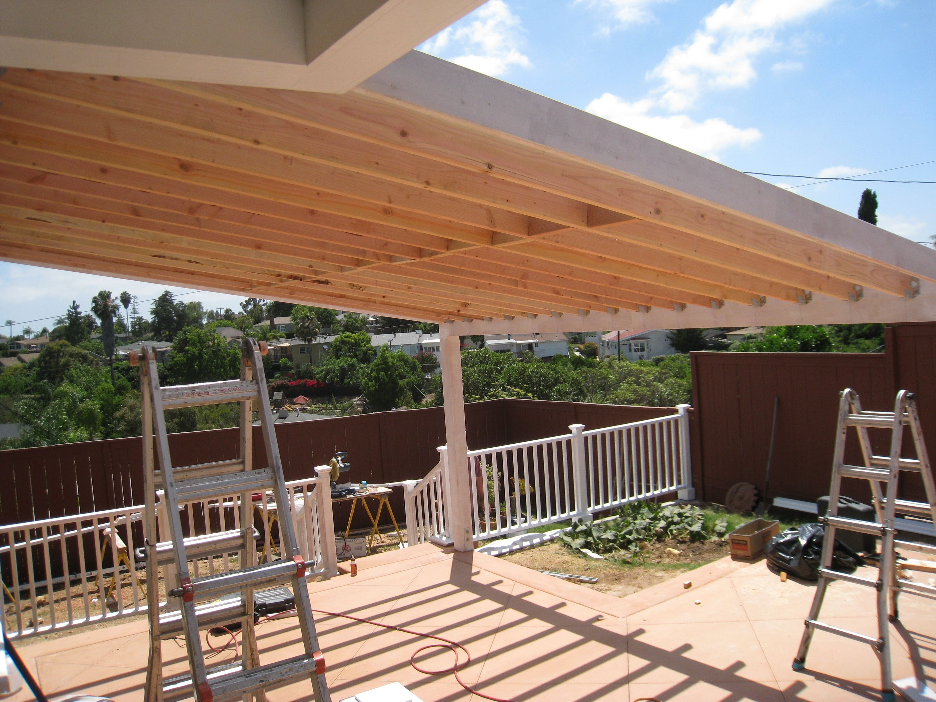 Covered Patio Construction Plans