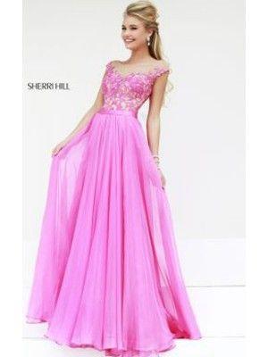 2014 Sherri Hill 11151 Pink Long Prom Dress