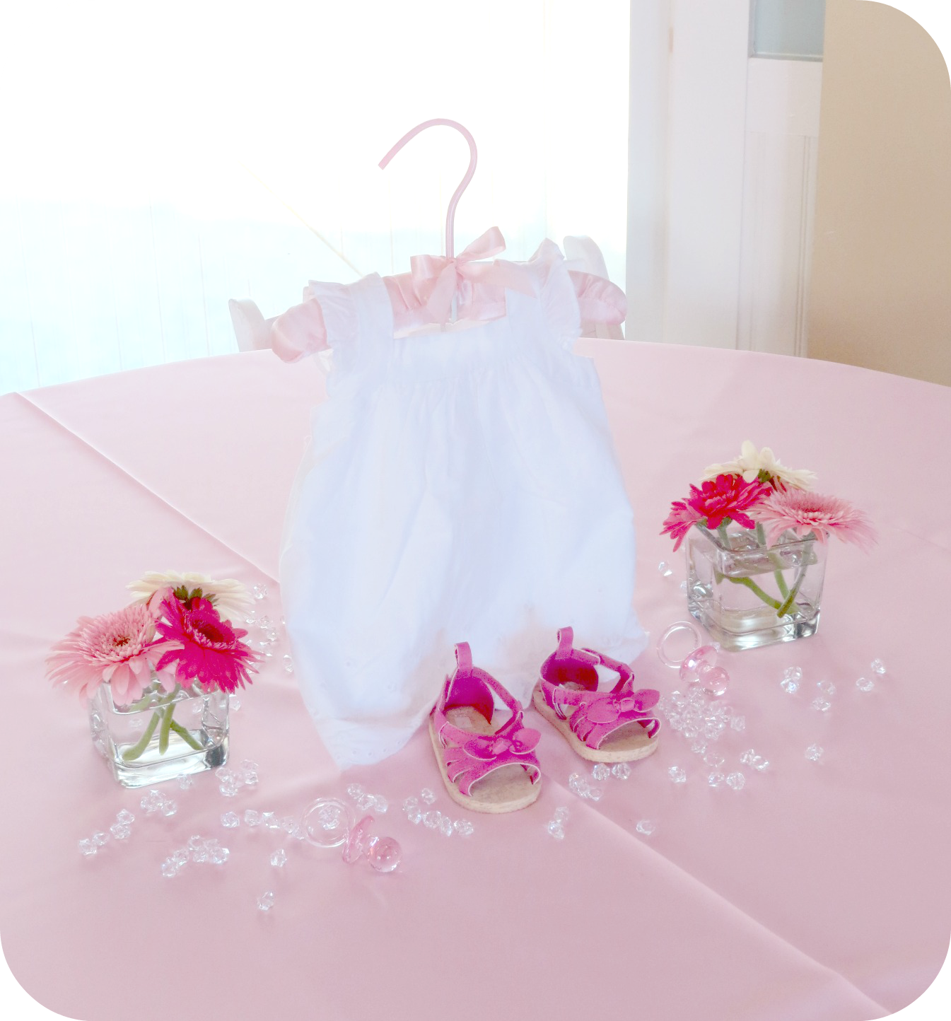 Baby Shower Decorations Table Settings: Baby Girl Shower Table Centerpiece