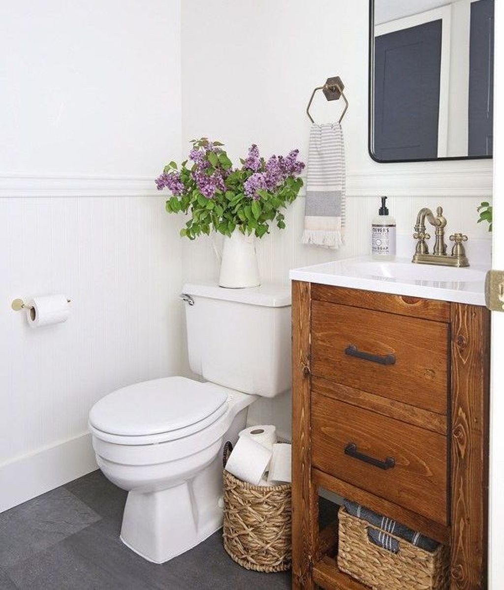 49 Stunning Small Half Bathroom Designs Ideas