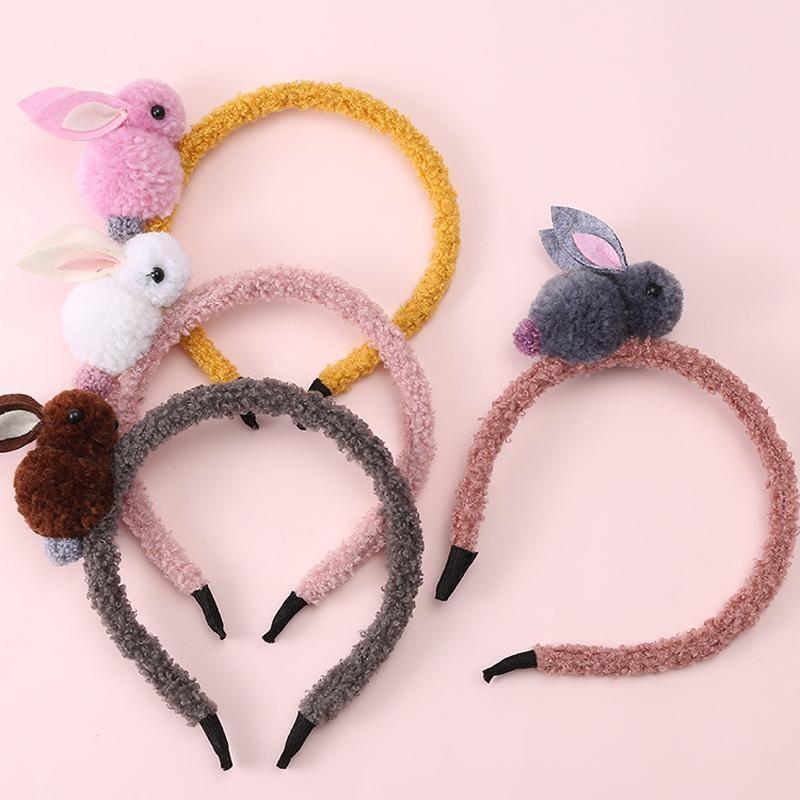 Cute Women Rabbit Ears Bow Headband Hair Band Head Piece Hair Clip Accessary