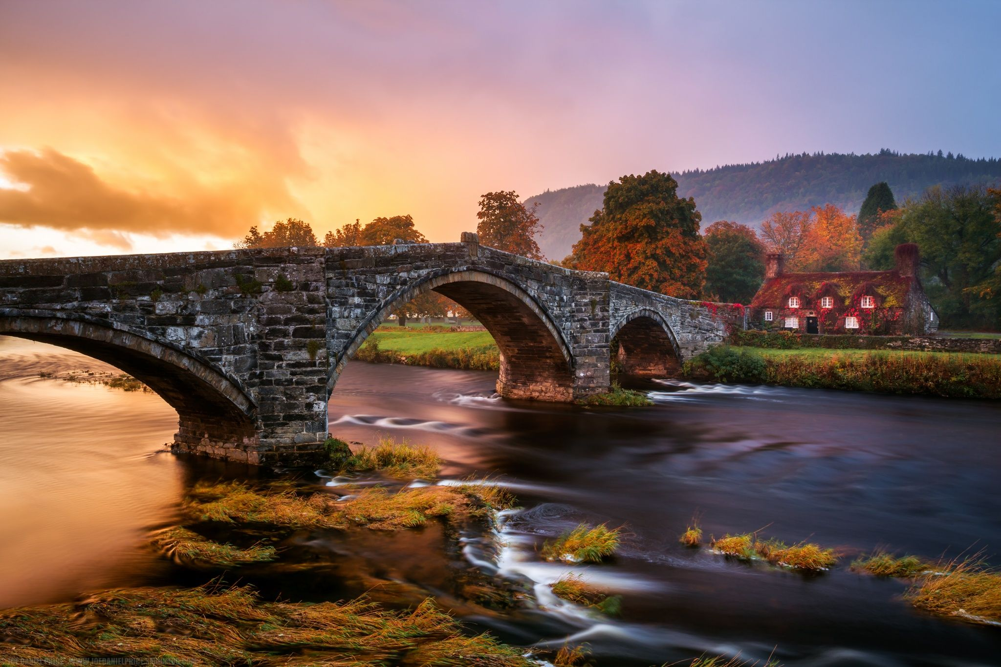 Stormy Sunrise at Llanrwst Tea Rooms, Snowdonia, Wales by Joe Daniel Price on 500px