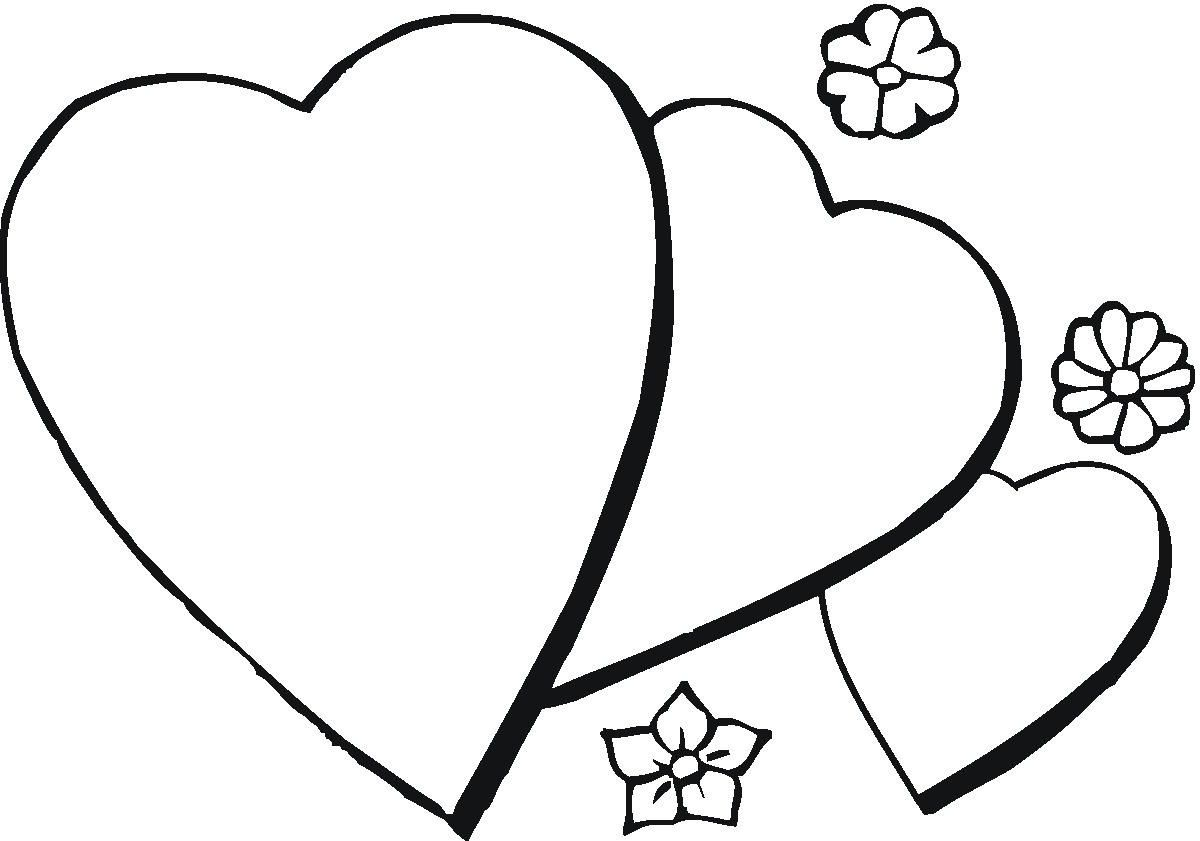 Valentine\'s Day Coloring Pages And Taz. Romantic Valentines Day ...
