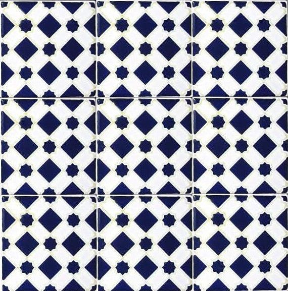 Decorative Ceramic Tiles Accent Mosaic Hand Painted Wall Decor Kitchen Bathroom Backsplash Swimming Pool Patio