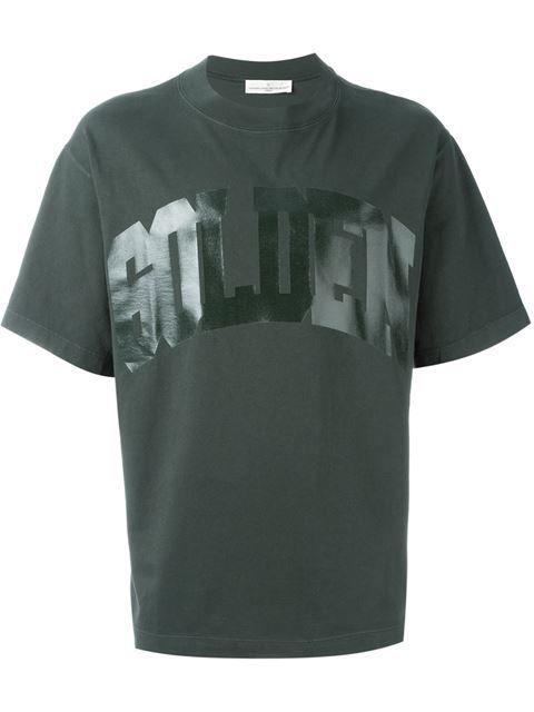 GOLDEN GOOSE Logo Print T-Shirt. #goldengoose #cloth #t-shirt