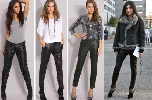 Pantalones De Cuero Para Mujer Pantalones De Cuero Ropa Pantalones