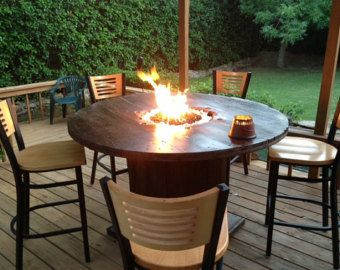 Wood Burning Fire Pit Table Google Search Spool Tables Wooden