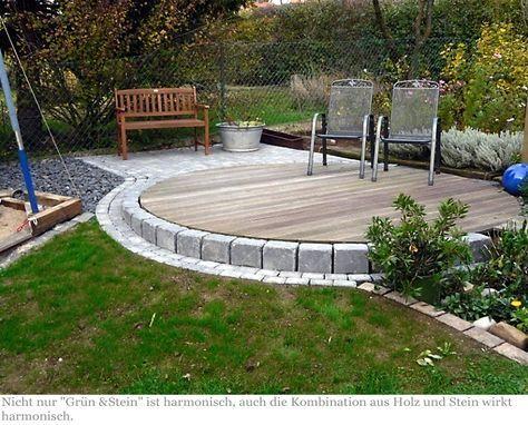 Terrasse Stein Holz Kombination terrasse holz und stein suche gartenprojekte