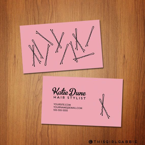 Bobby Pins Hair Stylist Business Cards Sets Of By Thisgirlgabbie
