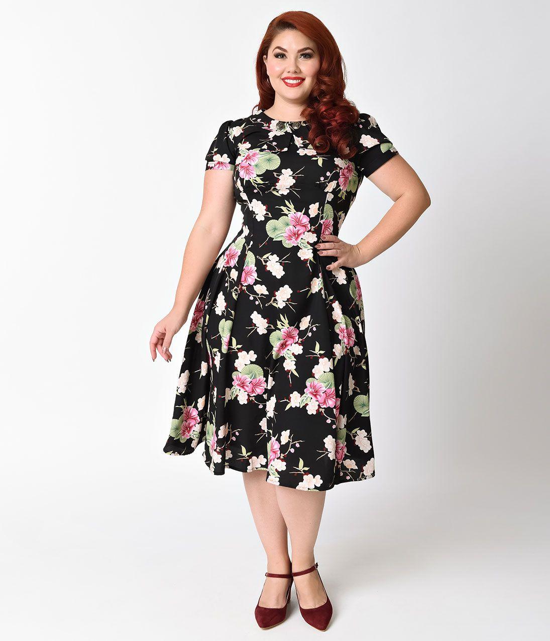 Plus Size Vintage Dresses Plus Size Retro Dresses Retro Dress
