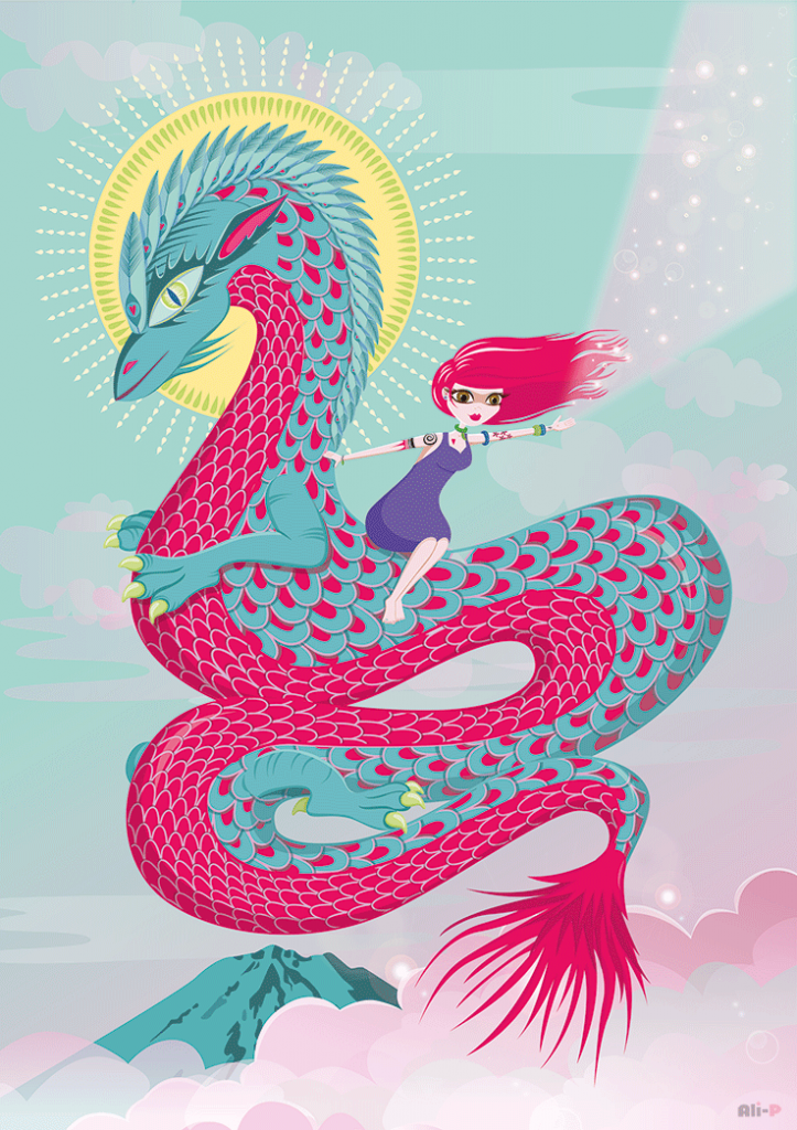 Dragon Goddess - Giclee prints available! www.Facebook.com/ArtbyAliP  www.ali-p-art.com