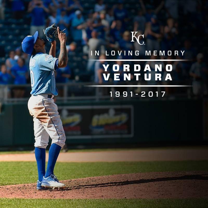 In Loving Memory... Yordano Ventura, 1991-2017. #ForeverRoyal