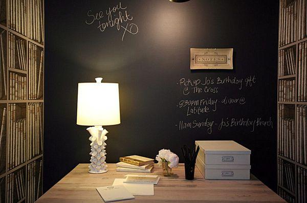 Brilliant Chalkboard Wall Designing Ideas : Chalkboard Wall Home Office