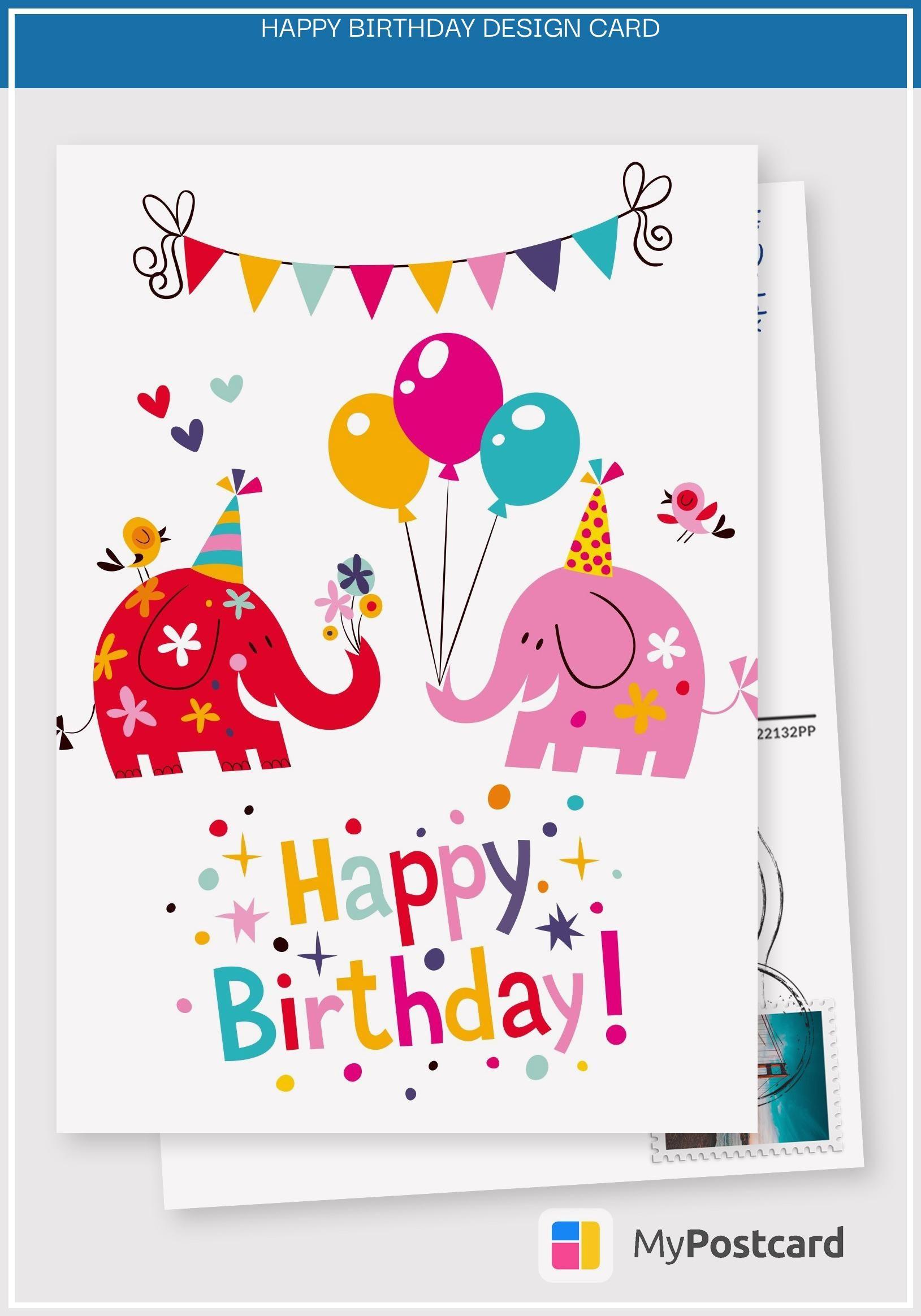 13 Large Happy Birthday Design Card Birthday Cards Images Happy Birthday Design Happy Birthday Cards