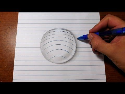 Download Video How To Draw 3d Art Easy Line Paper Trick Art