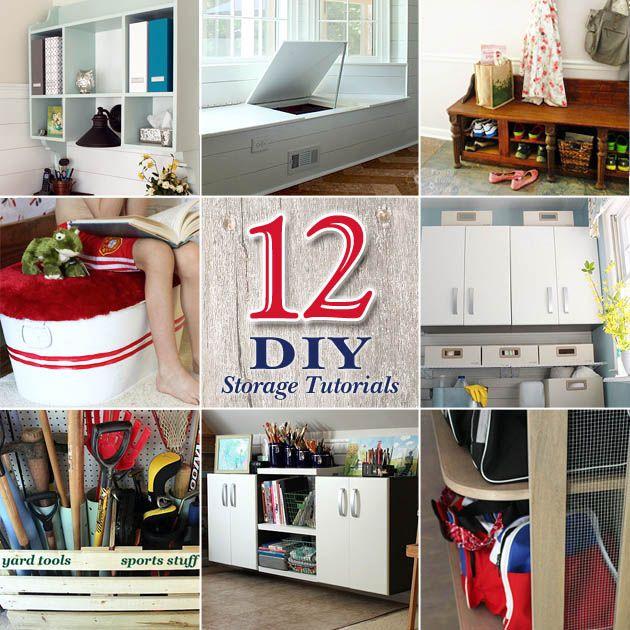 12 DIY Home Storage Tutorials Great Ways To Add Storage And Hide Clutter