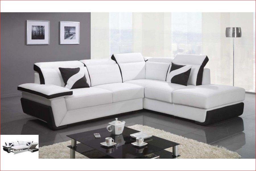 61 Canape D Angle Convertible Design Droite Cuir Pu Noir Et Blanc Zoe Grandcanapedangle8places Grandcanapedangleentissu Gr Di 2020 Tempat Tidur Sofa Sofa Minimalis
