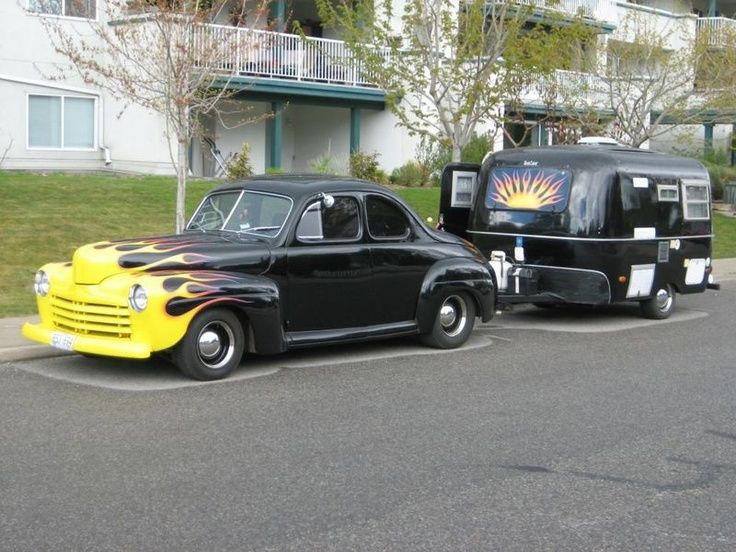1946 Ford Business Coupe and Sunrise Boler |