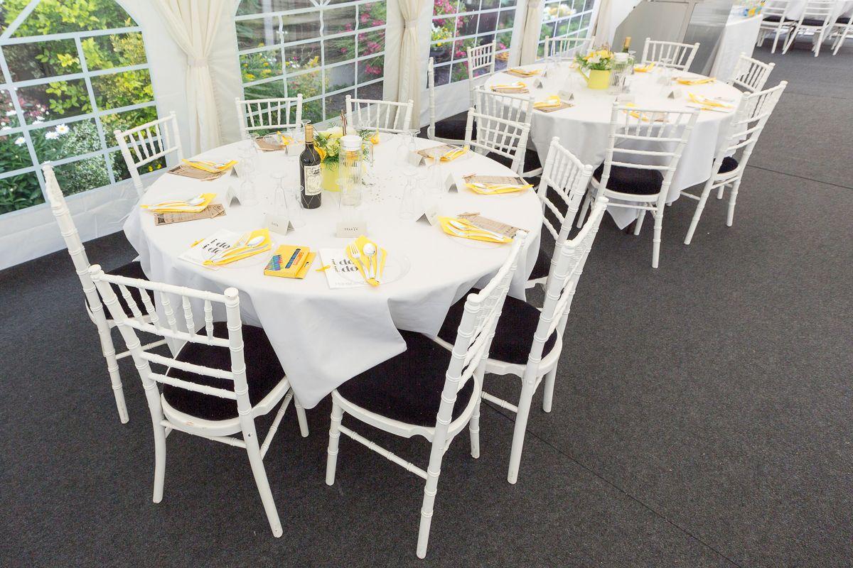 Outdoor garden wedding decoration ideas  Table decoration idea at an outdoor garden wedding