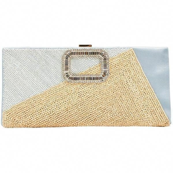 Pre-owned Roger Vivier Cloth Clutch Bag ( 732) ❤ liked on Polyvore featuring 625a3172e6