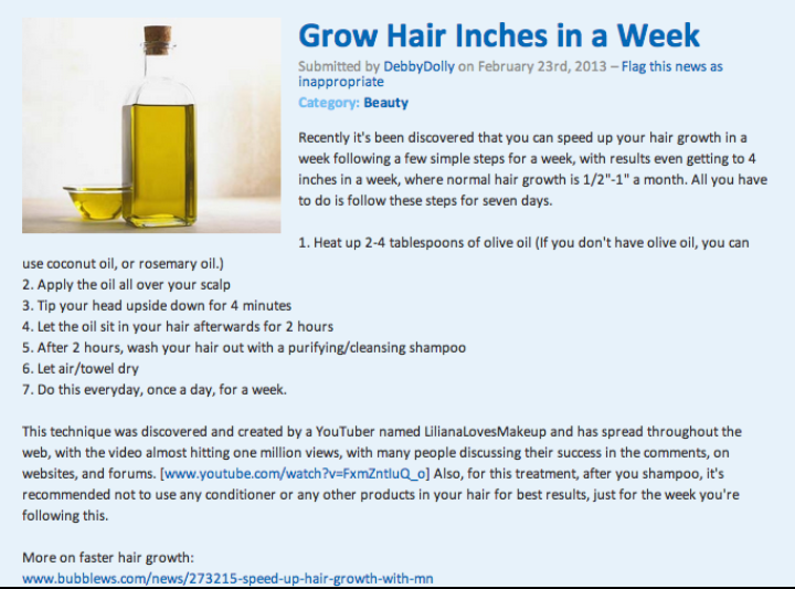 Gonna try this. My hair isn't growing fast enough.
