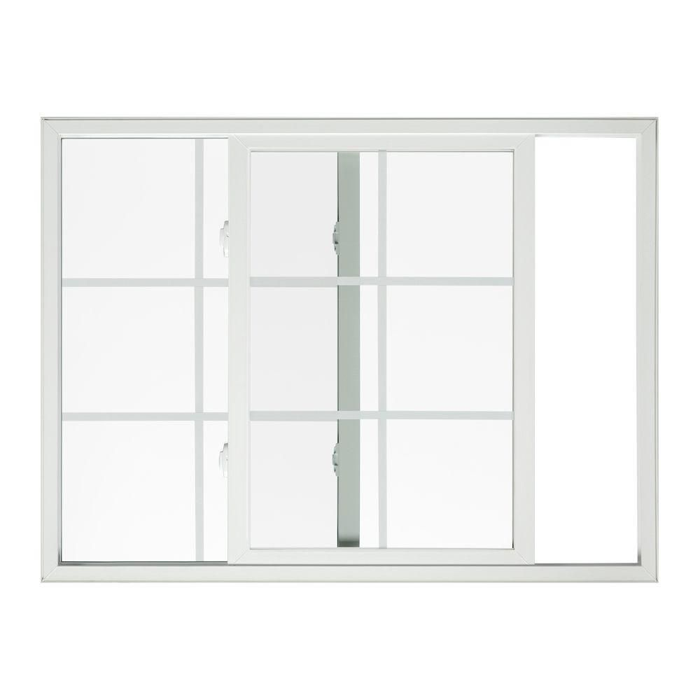 Jeld Wen 60 In X 36 In Premium Atlantic Left Hand Sliding Vinyl Window With Low E Glass Grille And Scree Sliding Vinyl Windows Window Vinyl New Home Windows