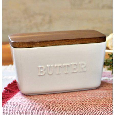 Better Homes & Gardens Porcelain Embossed Butter D