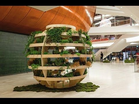 Spherical 9ft high room is made for growing plants, vegetables and