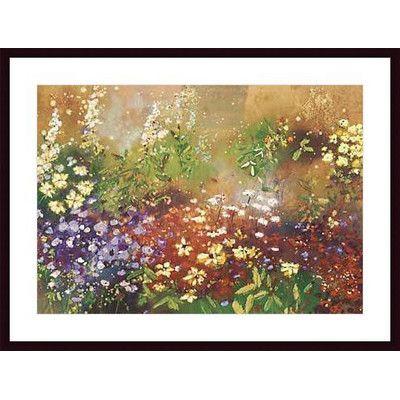 Printfinders Meadow Garden V by Aleah Koury Framed Painting Print & Reviews | Wayfair