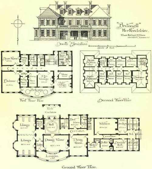 Chapter Iii Large Country Houses Mansion Floor Plan Mansion Plans Architectural Floor Plans