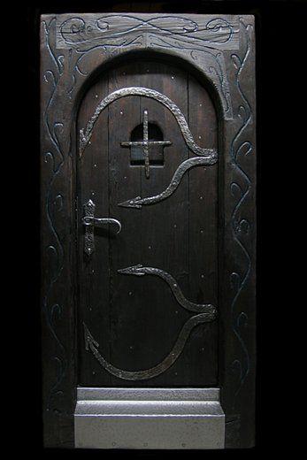 Equipment, wooden doors – doors to the studio