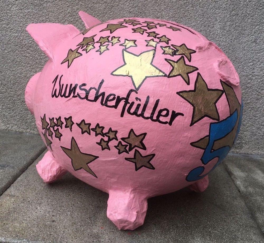 Sparschwein Xxl Wunscherfuller Schwein Geldgeschenk 50 Geburtstag