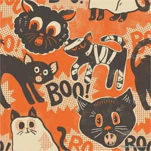 Spooktacular Scaredy Cat by Maude Asbury for Blend Fabrics 101.107.06.1