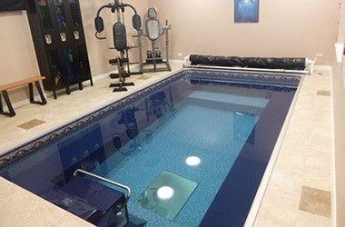 Install A Lap Pool Or Swim Spa Indoors Even Basements Indoor Pool Design Indoor Swimming Pools Indoor Pool