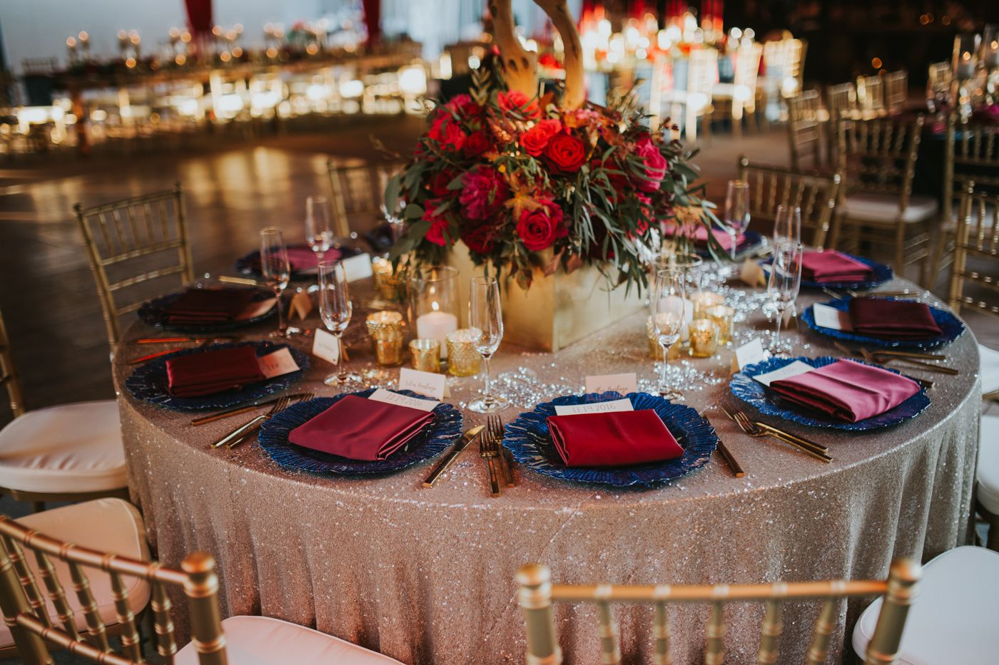 A Pro Tennis Player's Fall Wedding Featuring a Moody Color