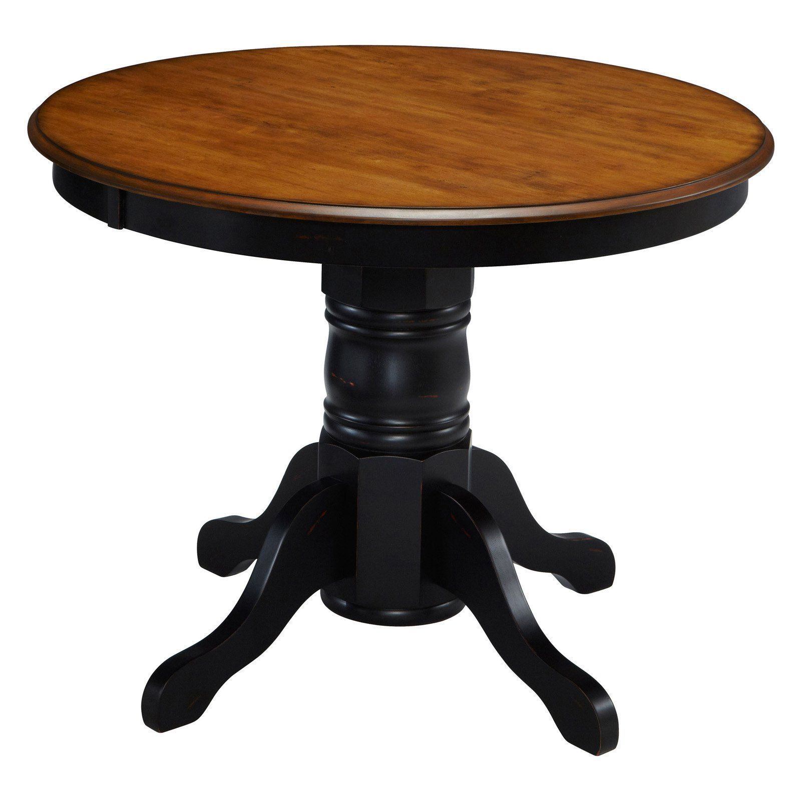 home styles the french countryside oak and rubbed black pedestal