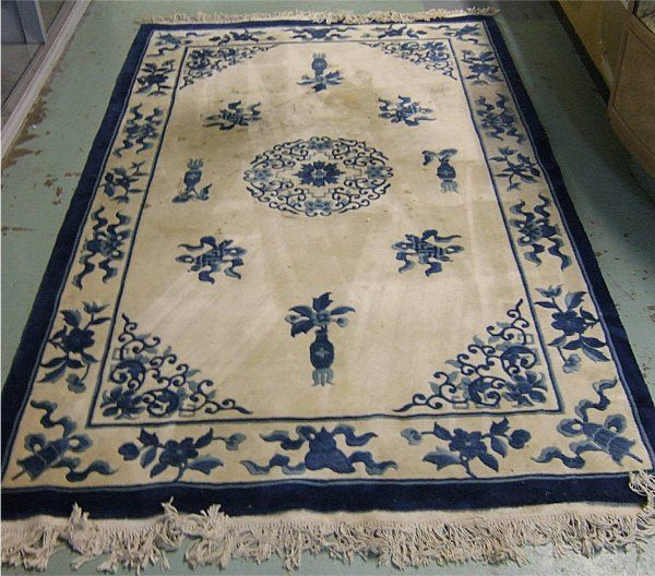 201 Chinese Blue And White Oriental Rug 8 X 5 Blue
