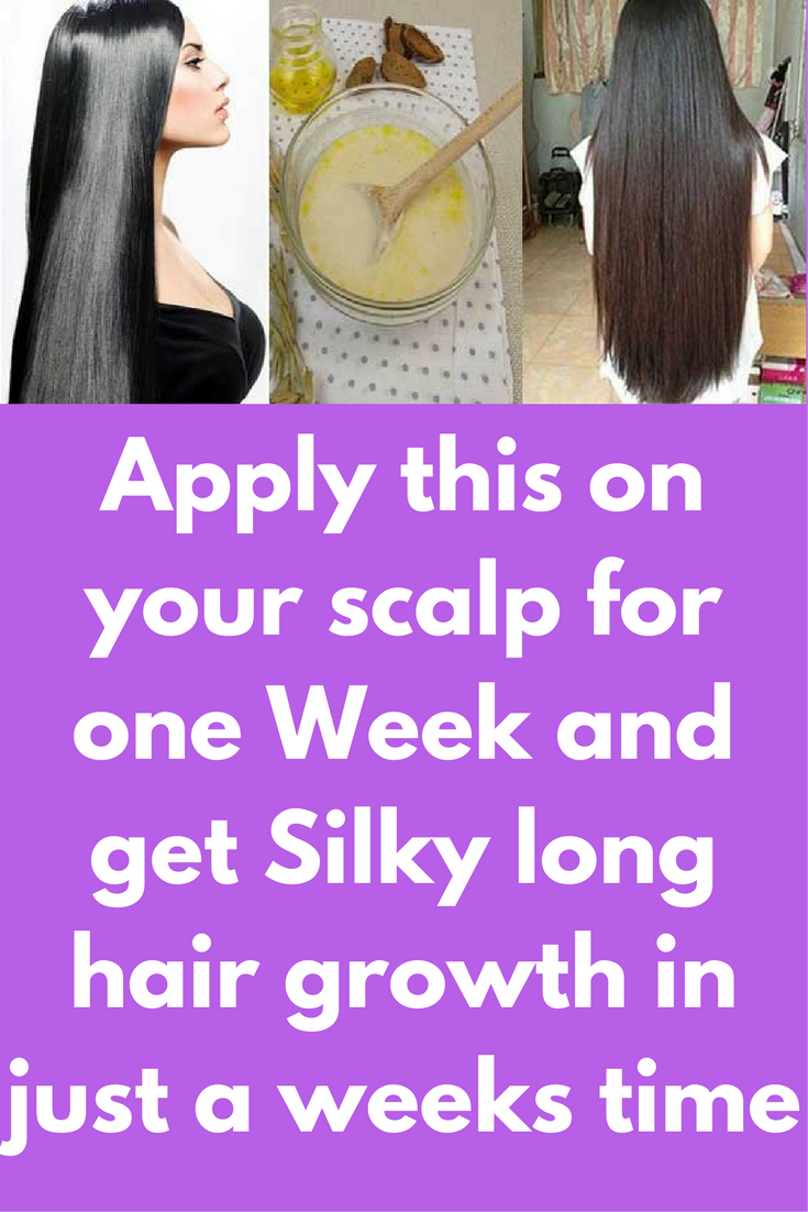 Apply This On Your Scalp For One Week And Get Silky Long Hair Growth In Just A Weeks Time We Want To Have A Longer Hair Growth Long Hair Styles