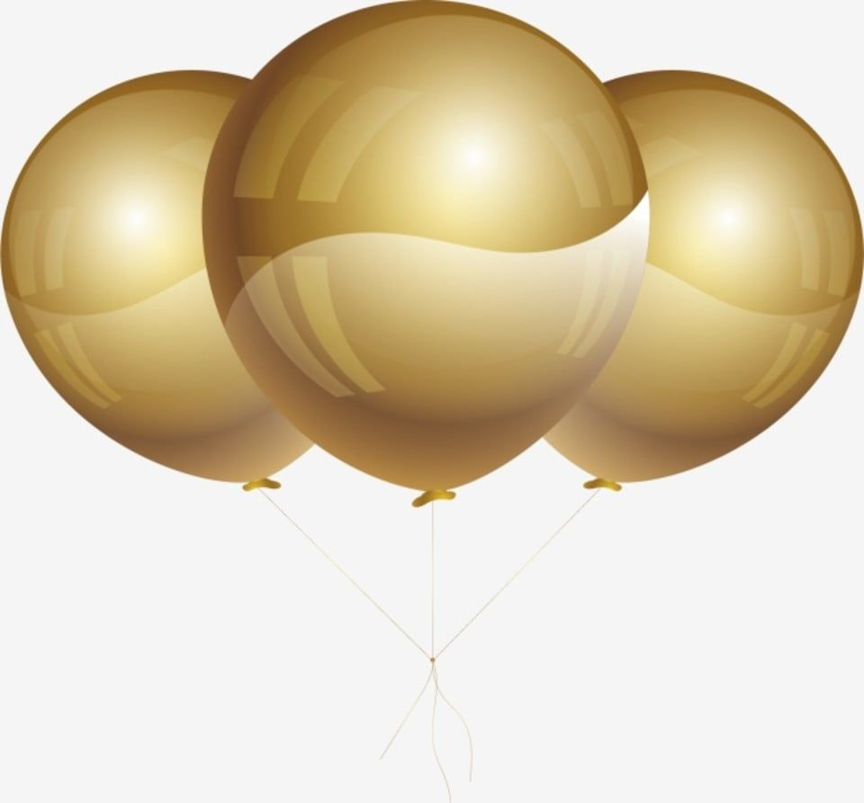 بالونات ذهبية بالونات السنة الجديدة حفلة جديدة بالون العام الجديد بالون بالون ذهبي Png والمتجهات للتحميل مجانا New Years Party Balloons Party Balloons